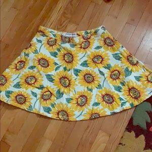American Apparel Sunflower Skirt